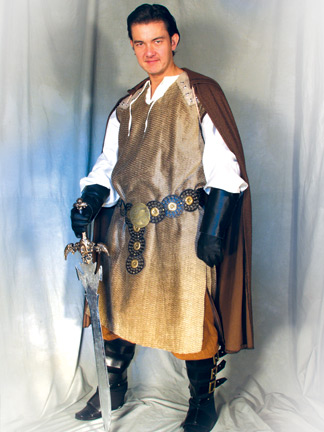 Medieval Knight in Brown